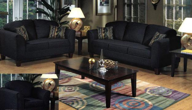 Black design living room ideas for home decoration - Black sofas living room design ...